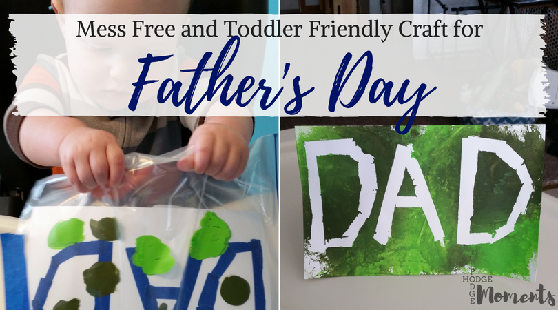 Easy Toddler Craft for Father's Day