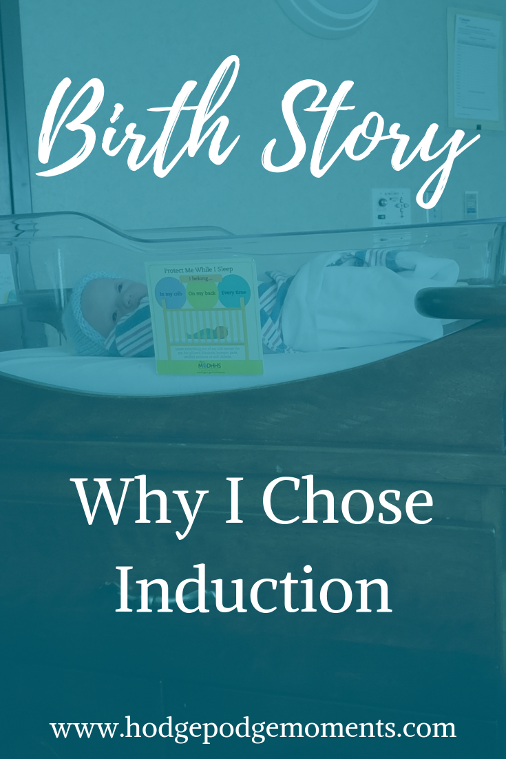 The story behind why I chose an induction for my second birth.