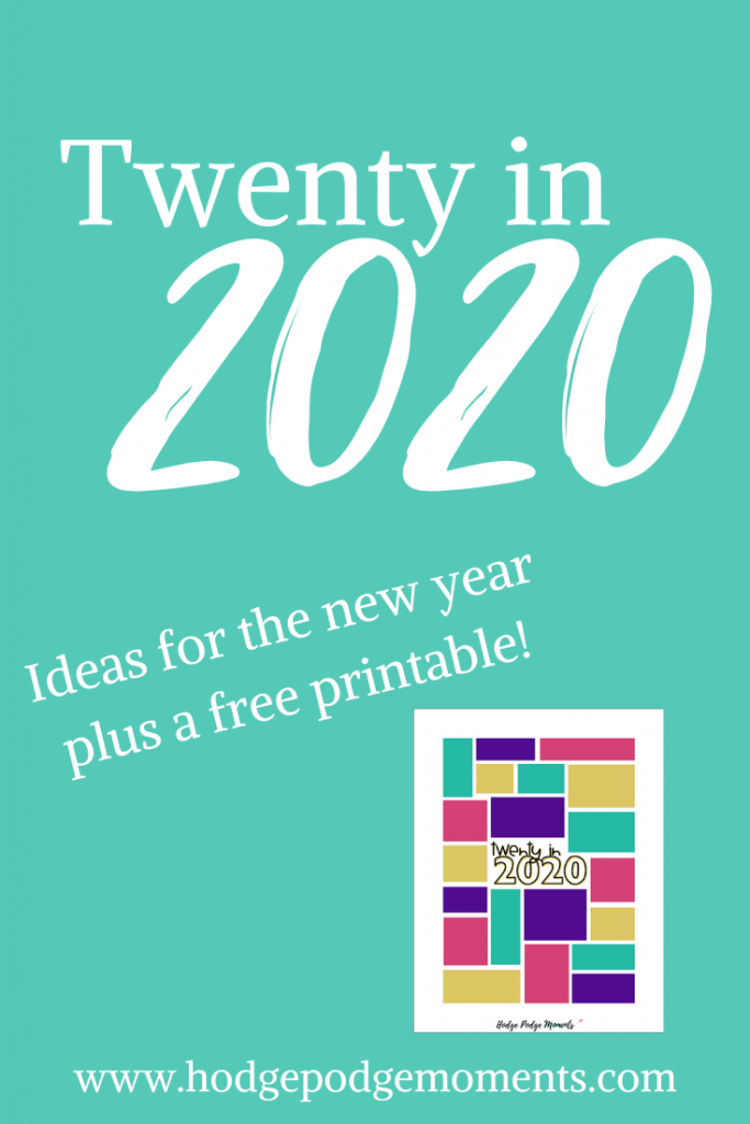 Twenty things I'm trying to change in 2020 along with a free printable to plan your own!