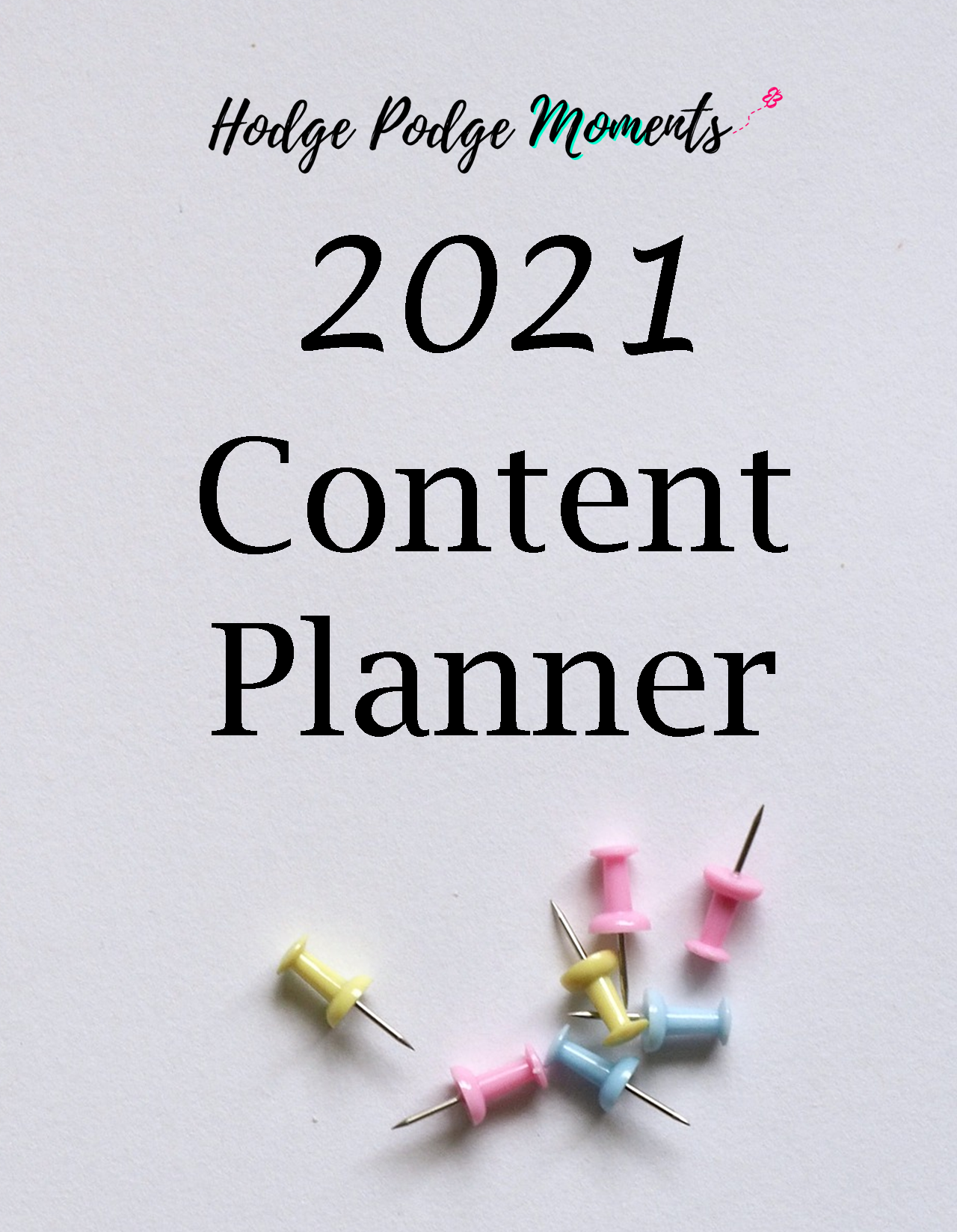 Cover of the content planner