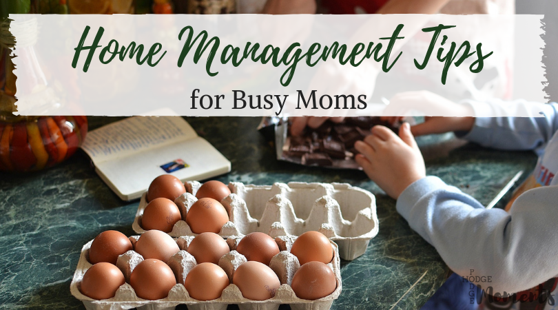 Home Management Tips for Busy Moms